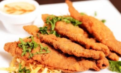 تحضير اسكالوب بانيه المغطى بالكعك الرائع مقادير اسكالوب بانيه اربع قطع لحم مقطعة شرائح Chicken Recipes Food Recipes