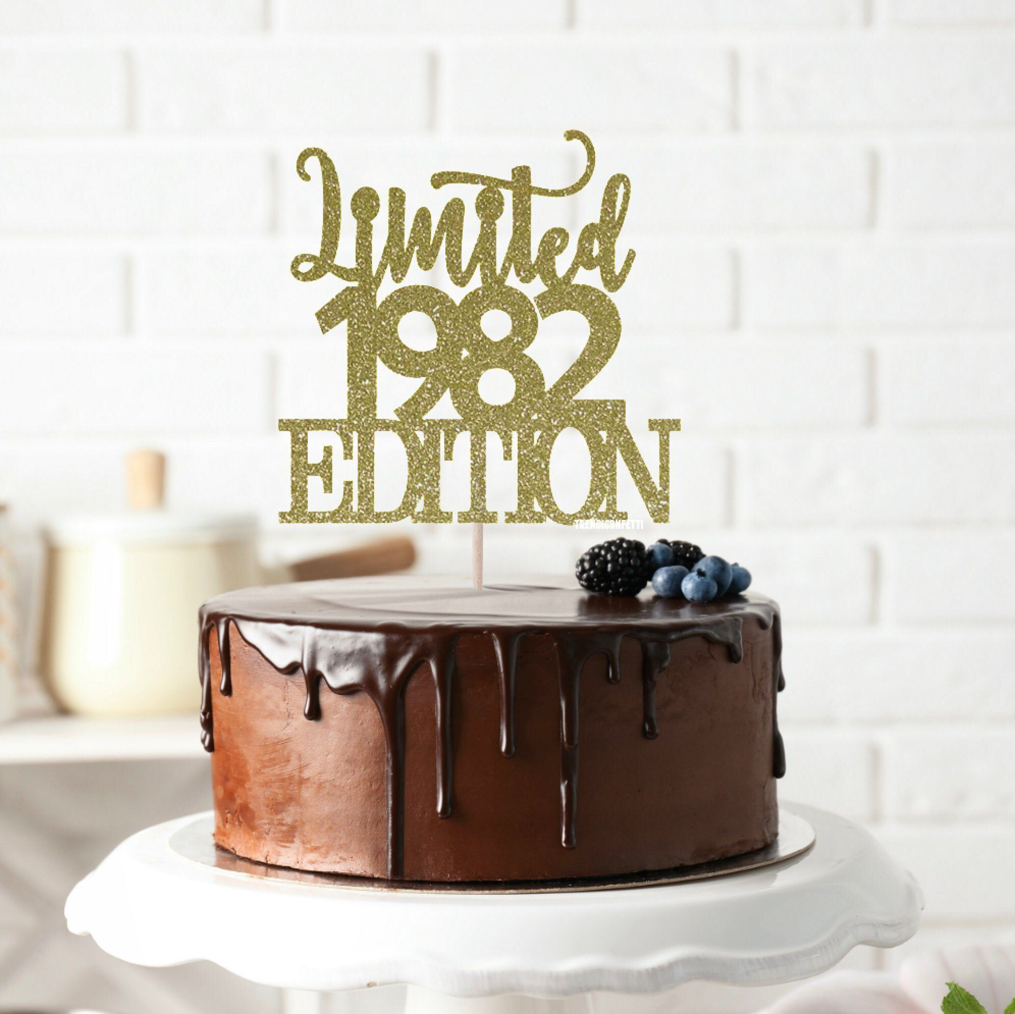 Limited 1982 Edition Cake Topper 38 Years Loved Cake Topper 38th
