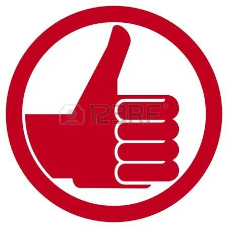 Thumbs Up Symbol Vector Hand Showing Thumbs Up Human Hand Thumbs Up Thumbs Up Badge Like Icon Like Symbol P Blue Colour Background Blue Color Like Symbol