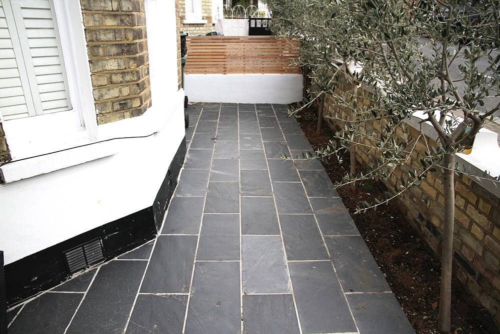 Front Garden Paving Ideas Contemporary black tiles in london front garden pathways and contemporary black tiles in london front garden paving ideasblack workwithnaturefo