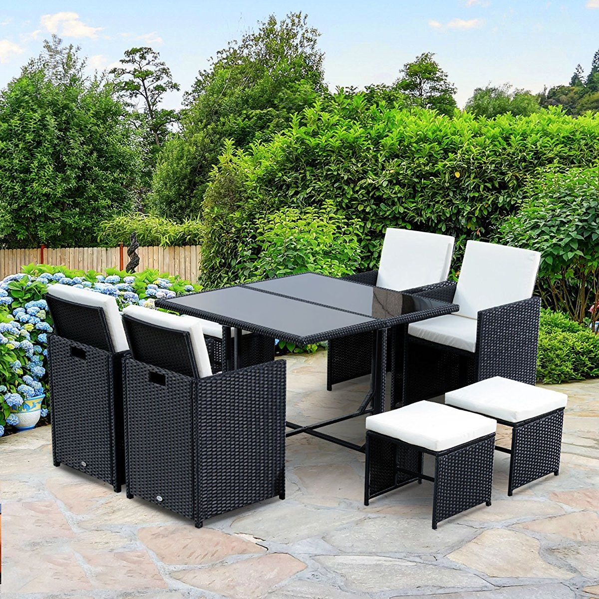 outdoor rattan wicker dining table patio furniture sets rh pinterest com