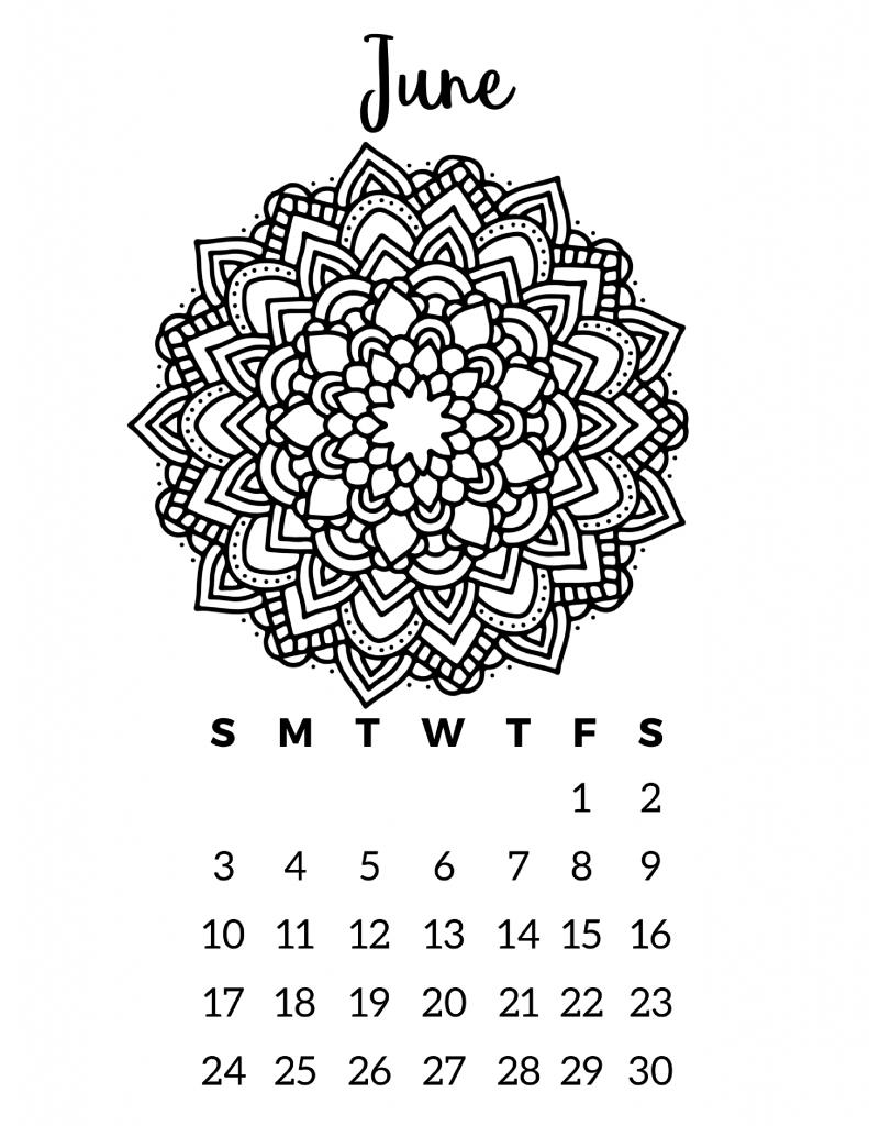 Free Printable 2018 Calendar – Mandala Coloring Pages | Herramientas ...