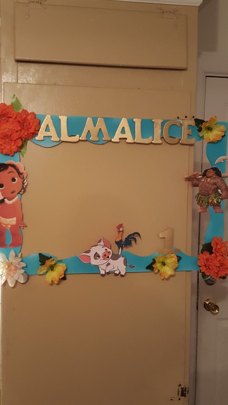 Moana Photo Frame Moana Photo Frame Moana Themed Party