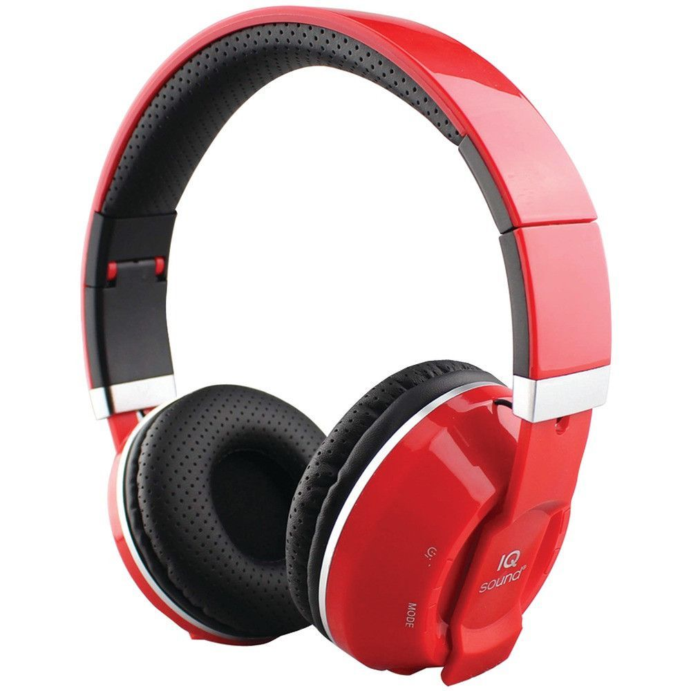b9c1bb65894 Supersonic Over-ear Bluetooth Headphones With Microphone (red ...