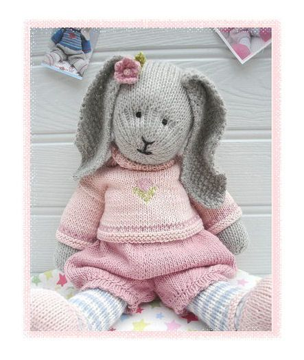 Primrose Rabbit A Mary Janes Tearoom Pdf Knitting Pattern