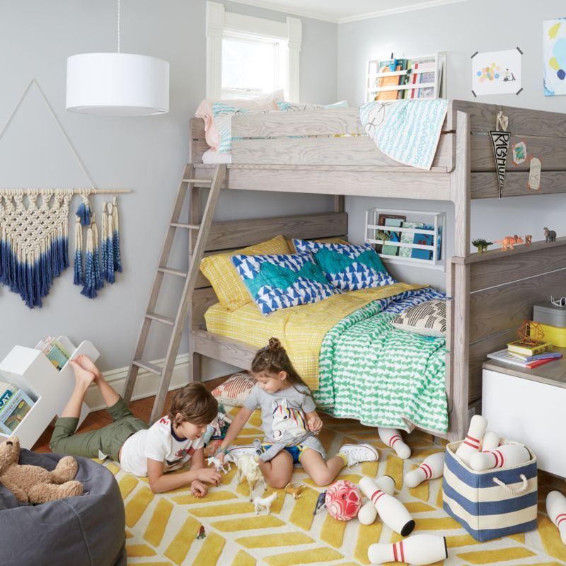 5x8 Yellow Chevron Rug Reviews Crate And Barrel In 2021 Kids Shared Bedroom Full Bunk Beds Boy And Girl Shared Bedroom