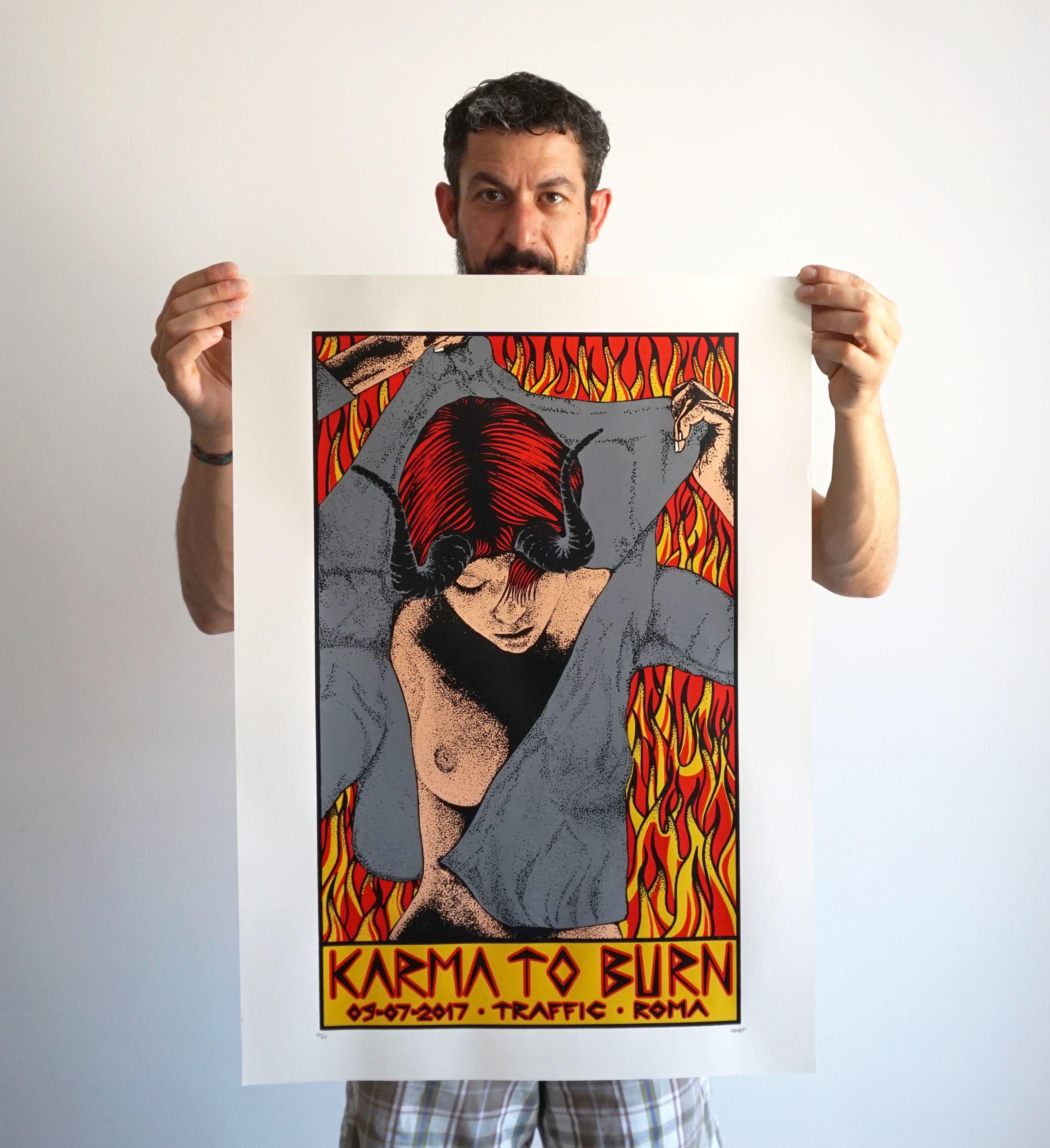 KARMA TO BURN // Gigposter #gig #poster #art #print #karmatoburn