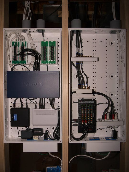 whole house structured wiring networking set ups cabinets rh pinterest com Home Network Wiring Closet Commercial Wiring