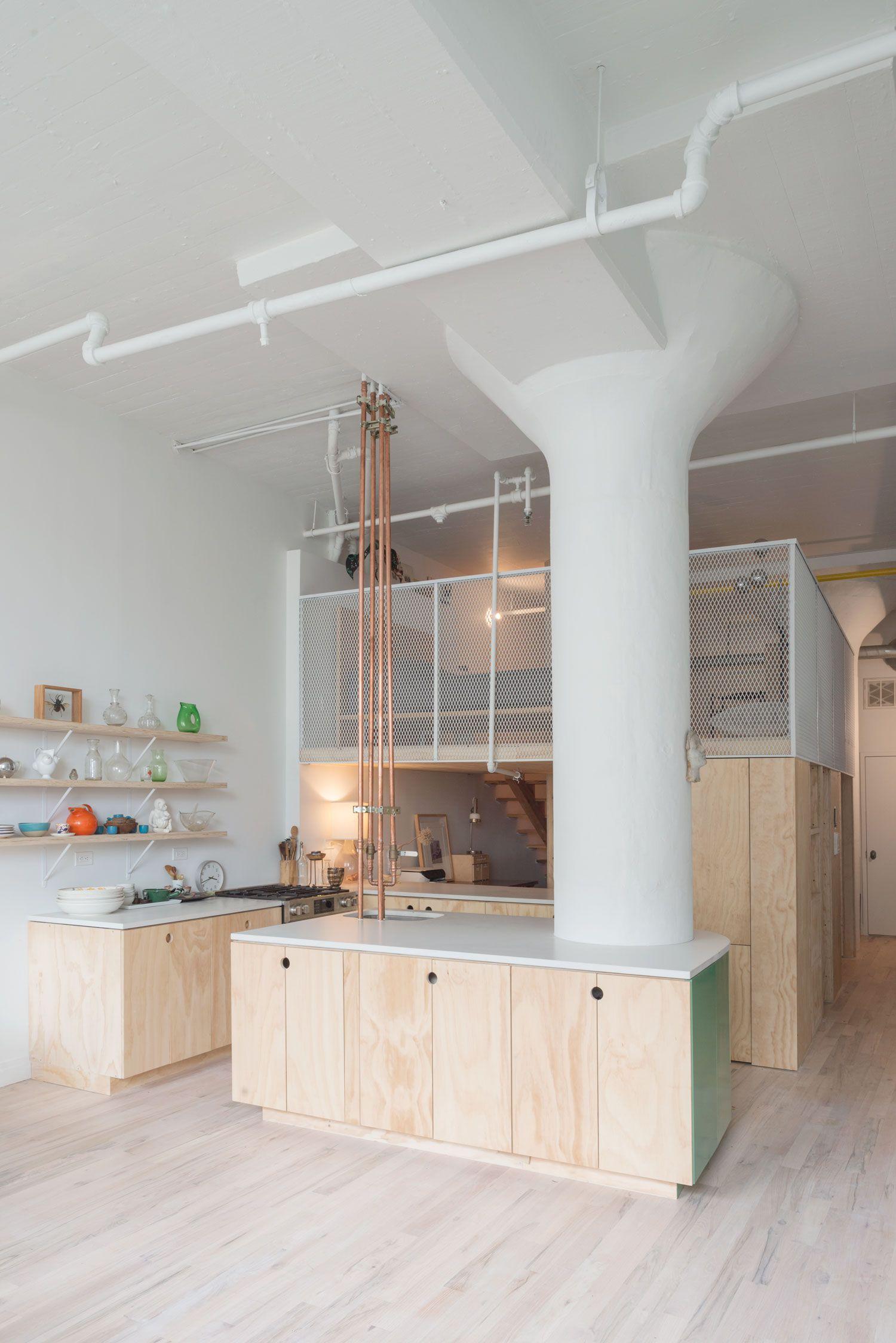 bed stuy loft in brooklyn new york by new affiliates pinterest rh pinterest com