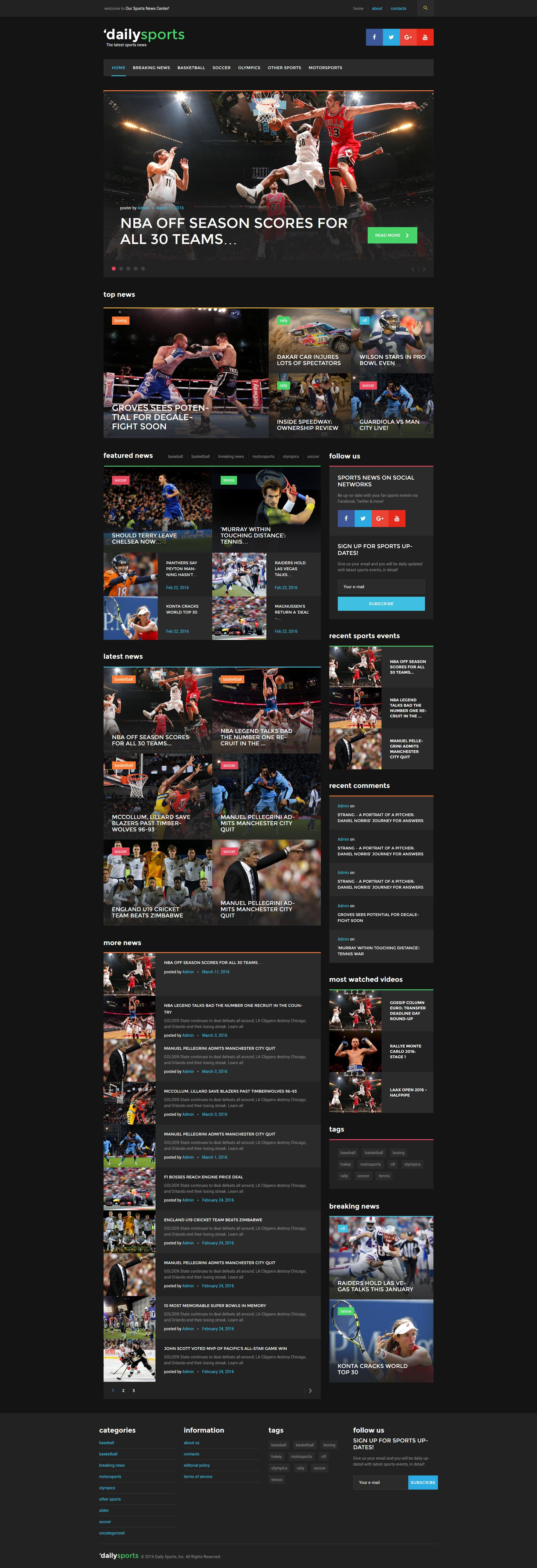 DailySports Sport Magazine WordPress Theme