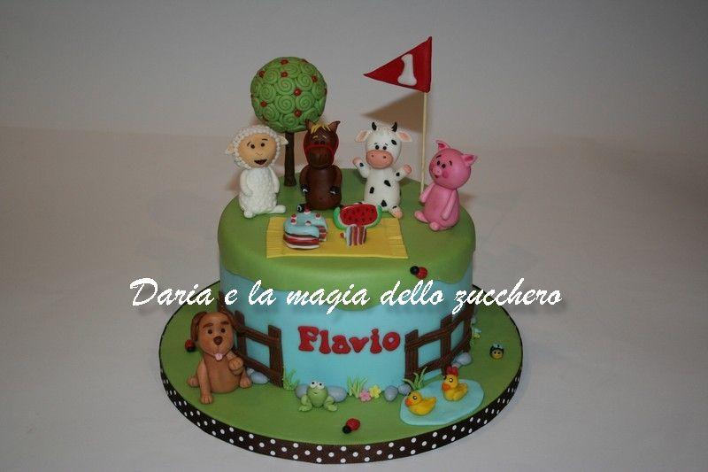 Torte Bambini ~ Torta fattoria farm cake children cakes torte bambini