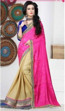Deep Pink Color Chiffon,Jacquard Casual Wear Saris Blouse | FH530680169 >>>>> Follow @heenastyle <<<<<<  #casualsarees #designerblouse #stunningblacksaree #sateensaree #sarees #casual #casualsarees #fashion #fashionwear #dailyfashion #style #dailystyle #ethnicwear #100sareepact #stylish #sari #satinborder #sareelove #printedblouse #sareeday #saris #Apparel #Black #heenastyle