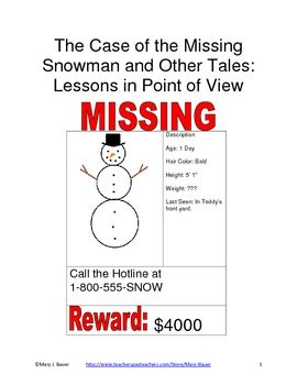 the case of the missing snowman and other tales writing resources