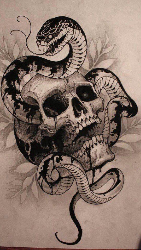 Zberezheni Fotografiyi 93 Fotografiyi Snake Tattoo Design Badass Tattoos Skull Tattoo Design