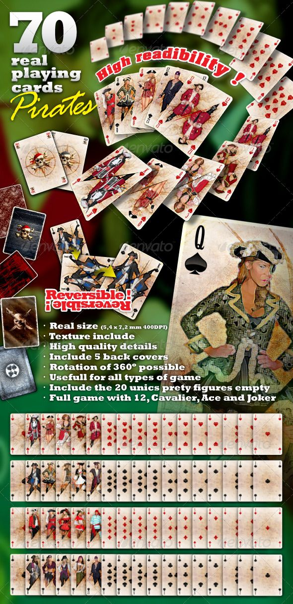 Complete Playing Cards The Real Playing Cards Pirate Set Is