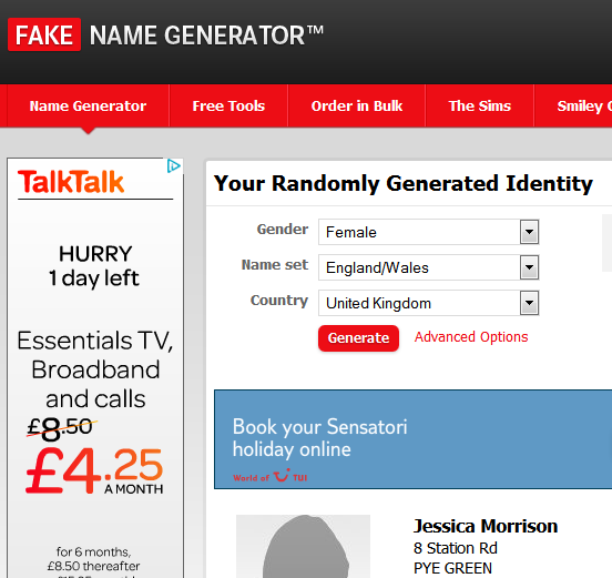 Fake Name Generator | For me | Pinterest | Generators and Email ...