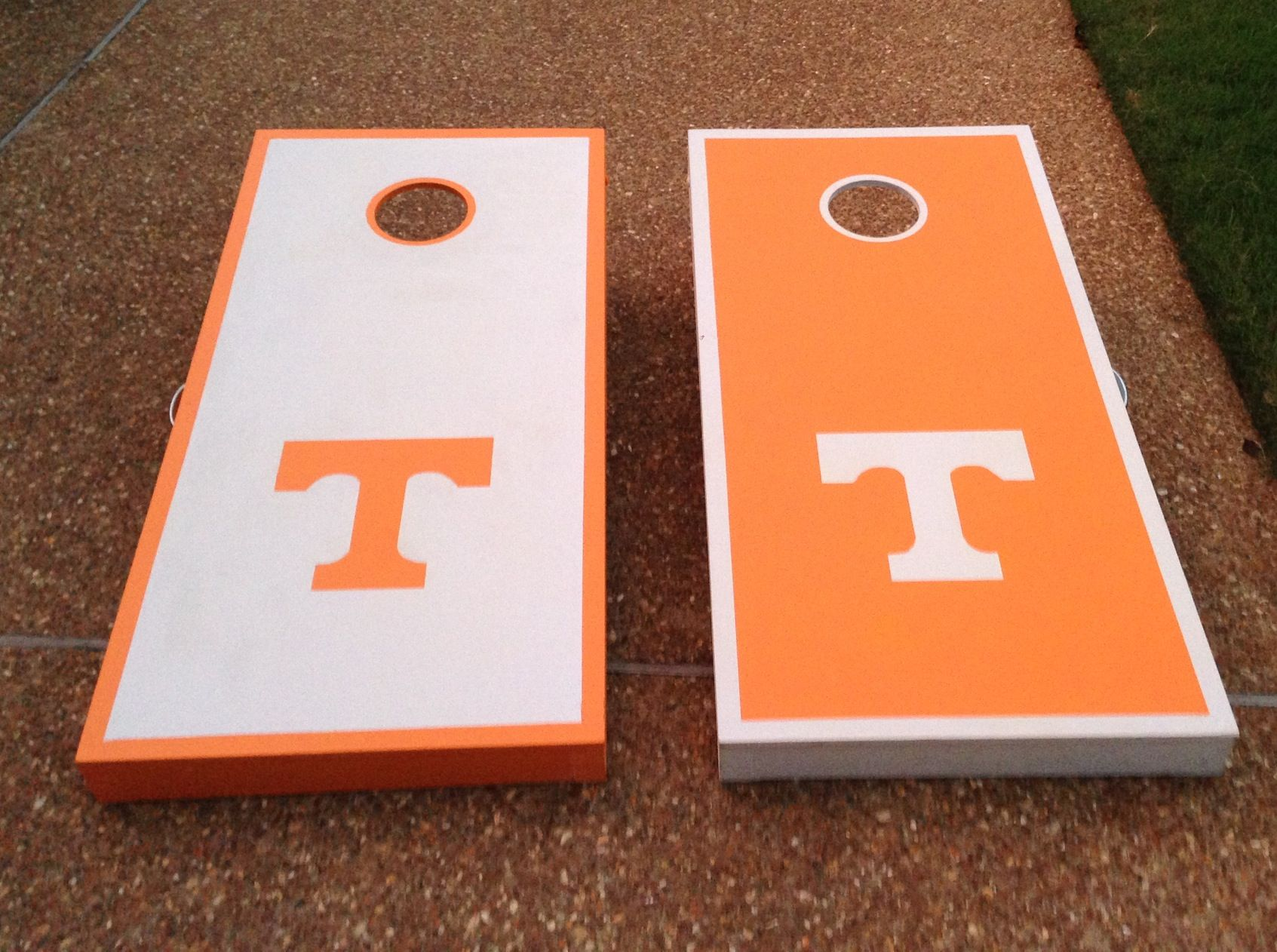 Tennessee Cornhole boards Tim & I made! #Tennessee #Vols #GBO #cornhole…