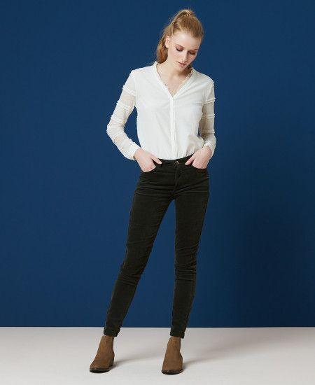 MONICA VELOURS - Pantalon slim velours One Step   La mode que j aime ... 315bcd27f7f