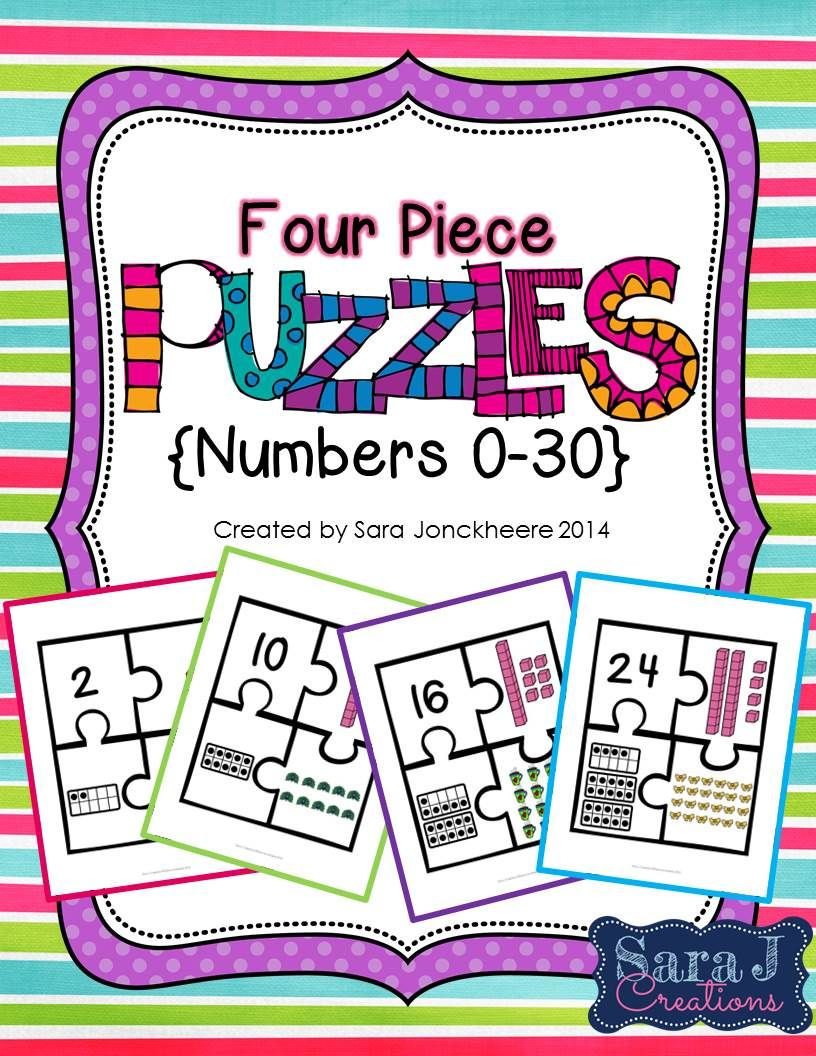 Counting puzzles 1 30 base ten blocks standard form and ten 30 different 4 piece puzzles for numbers 1 30 includes standard form falaconquin
