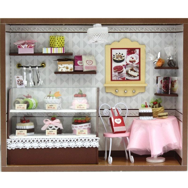 Assemble Miniature Dollhouse DIY Doll House Toy