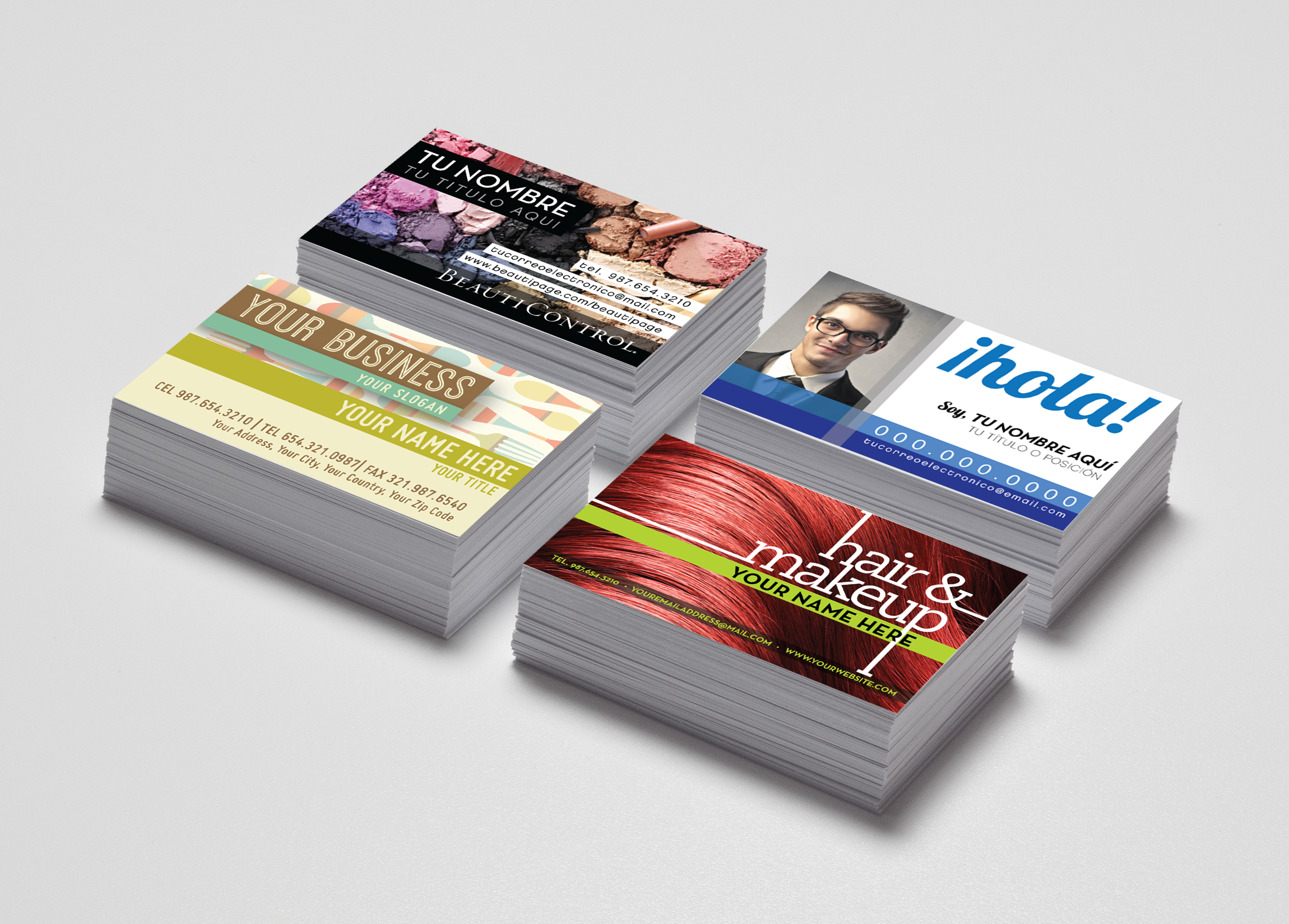 Pre Design Business Cards Examples for Makeup Artists Hair