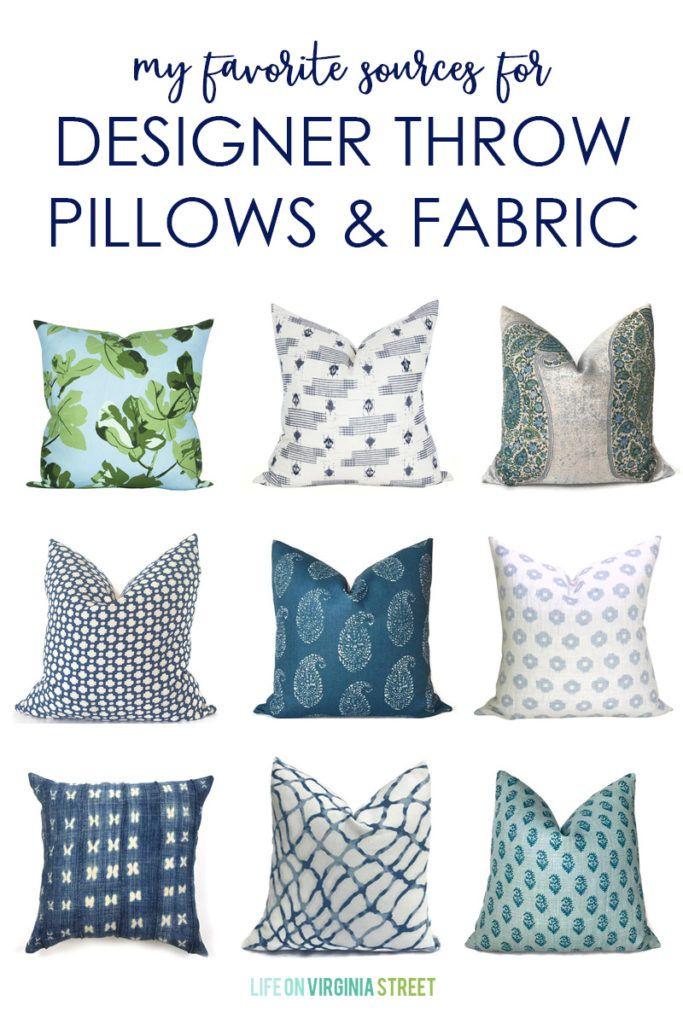 my favorite sources for designer throw pillows fabric hometalk rh pinterest cl