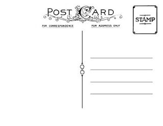 Free Vintage Postcard Templates  PostcardbackJpg  Postcards
