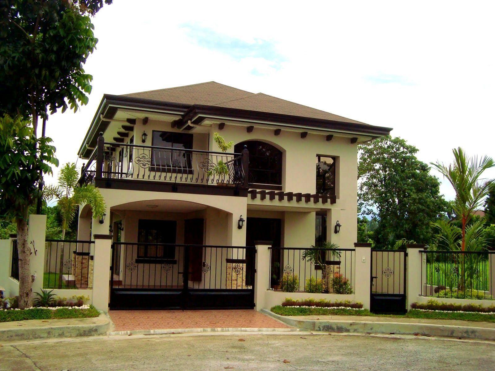25 Fabulous Two Storey House Designs For Romantic Young Families Classic House Design 2 Storey House Design House Porch Design