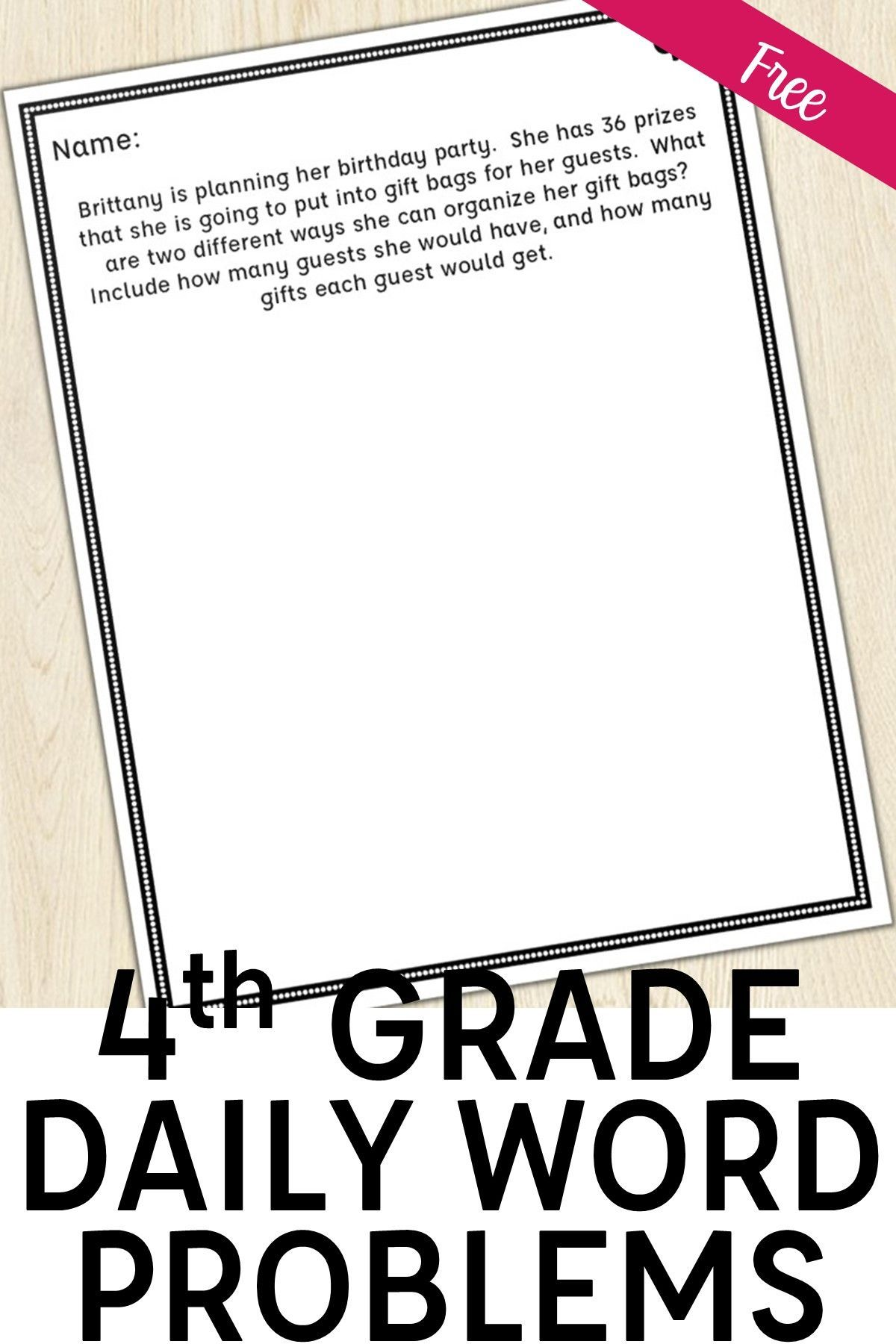 4th Grade Multi Step Word Problem Of The Day Story