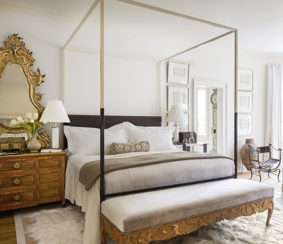 modern vintage bedroom ideas%0A Neoclassical bedroom design with antique furniture by Tara Shaw