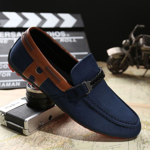Mens Driving Moccasin Shoes Canvas Shoes Men Slip-on Sneaker Boat Shoes Loafers