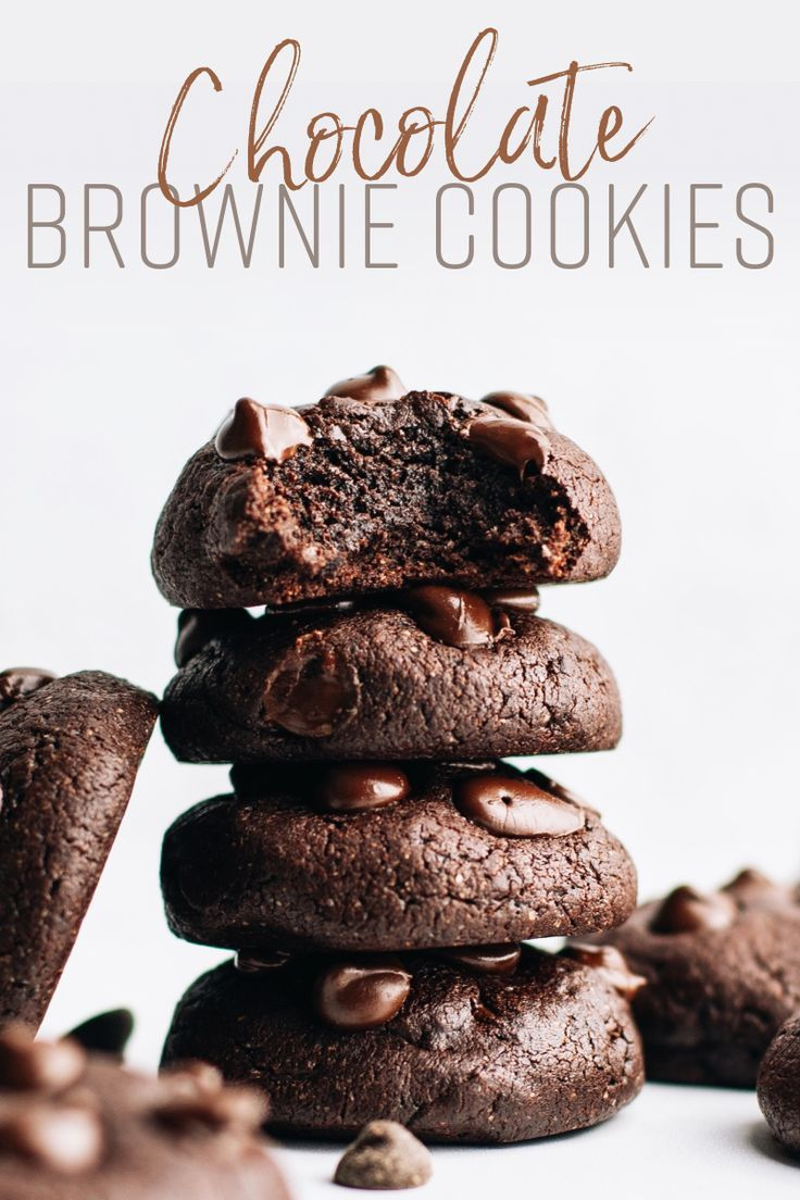 Photo of 1 Bowl Chocolate Brownie Cookies