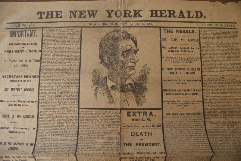 April 14 1865 5 Days After The Civil War Ended Pres Abraham
