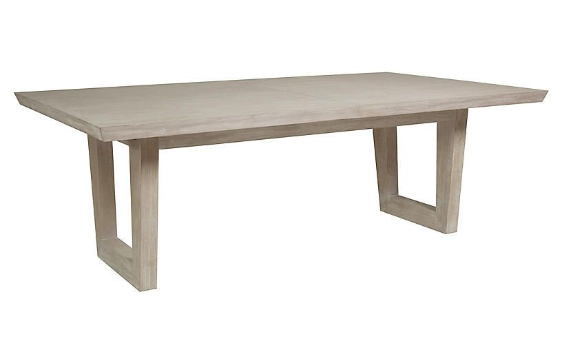 Brio Rectangular Dining Table Bianco White Dining Table