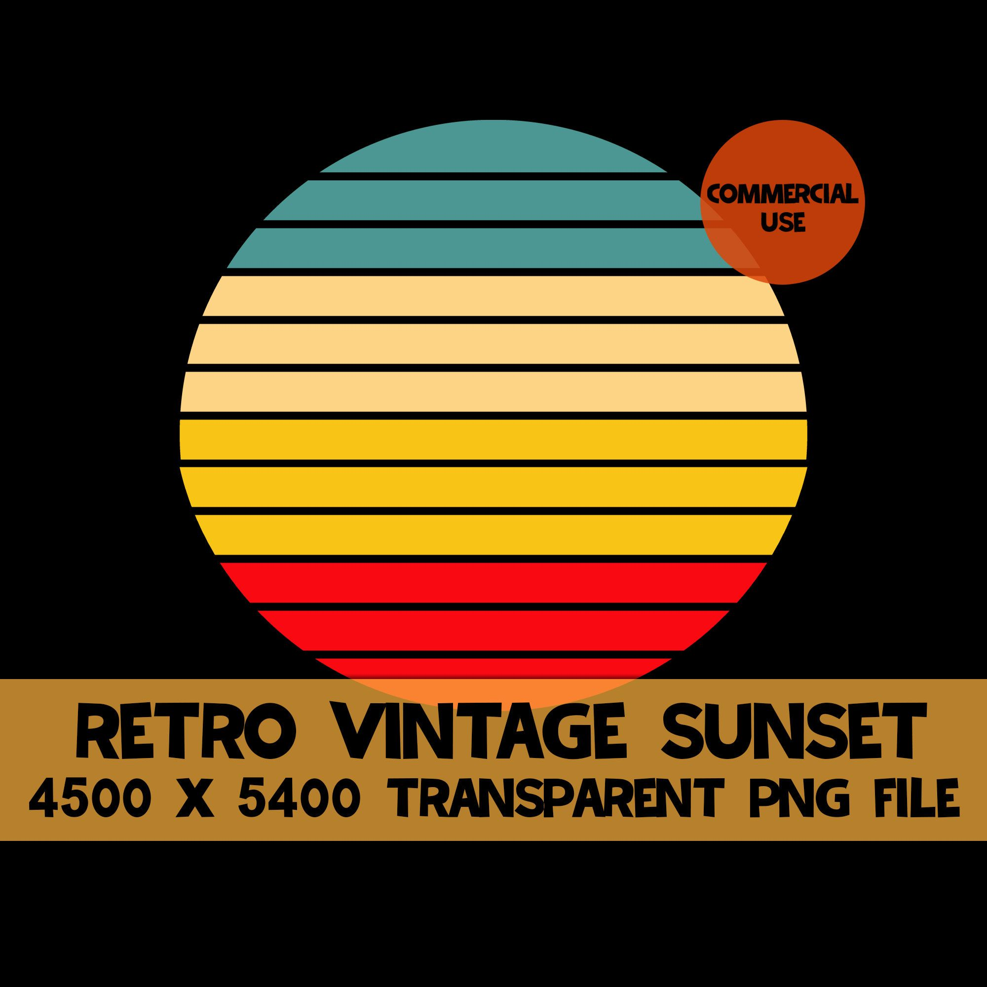 Pin on Retro Vintage Sunset Clipart