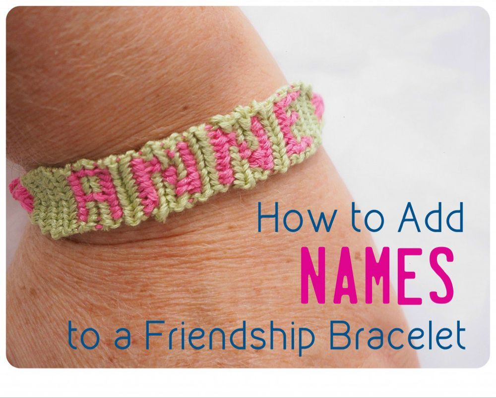 Start-to-finish instructions to make a friendship bracelet out of embroidery floss with letters or numbers in the design. #embroideryfloss
