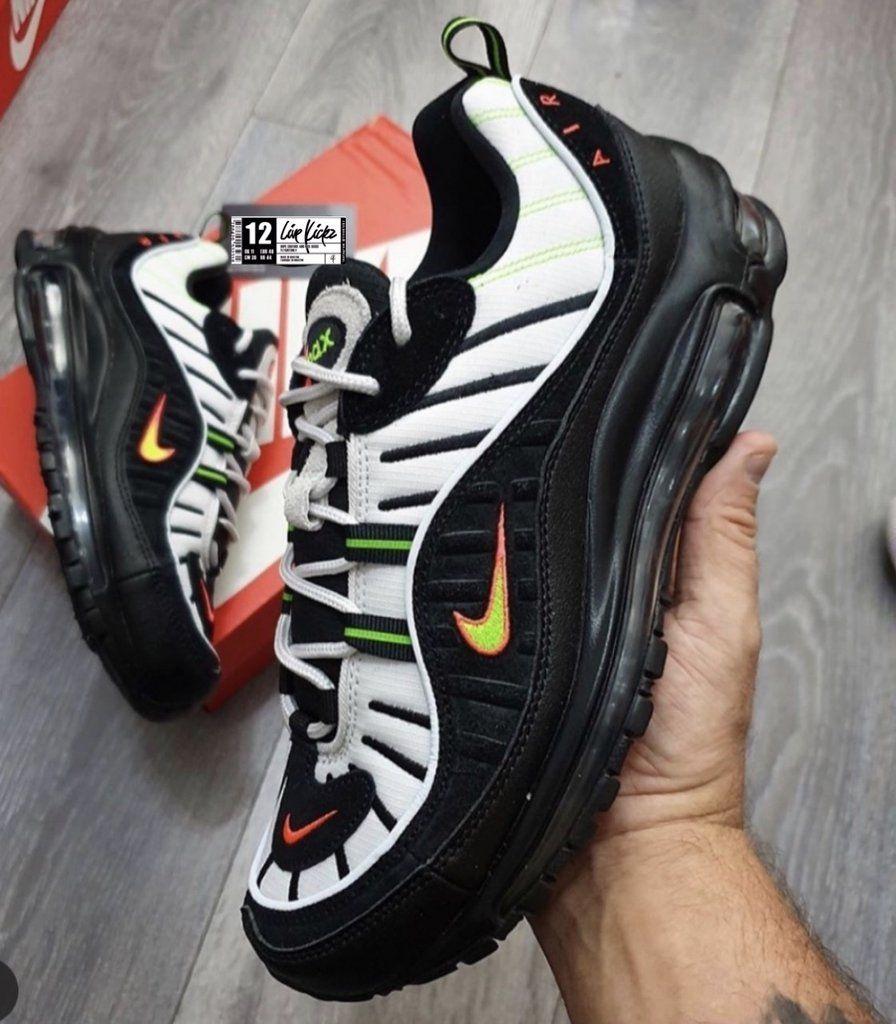 Nike air max 98 black neon volt in 2020