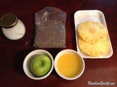 Batido Con Piña Y Semillas De Chía Para Adelgazar Fácil Recept Eten En Drinken Eten
