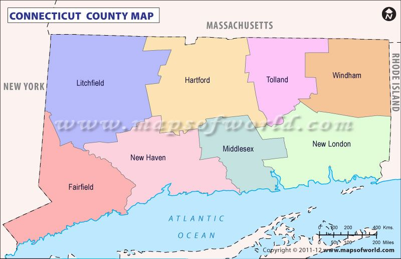 Map of #Connecticut #County in the #USA   USA Maps   Pinterest   Map ...