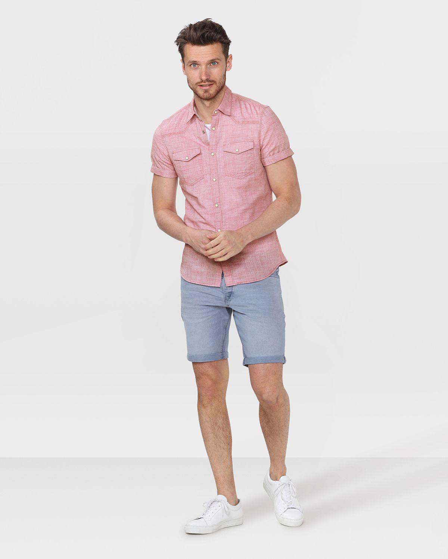 Slim Fit Overhemd.Heren Slim Fit Overhemd Shopping