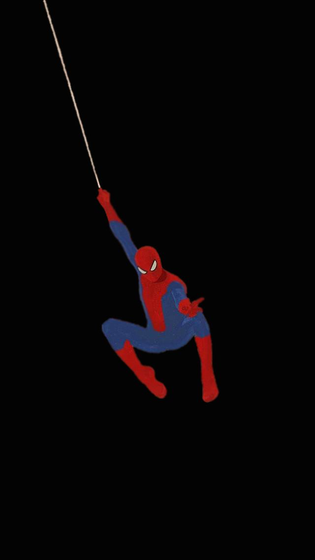 black lock screen spiderman wallpaper iphone