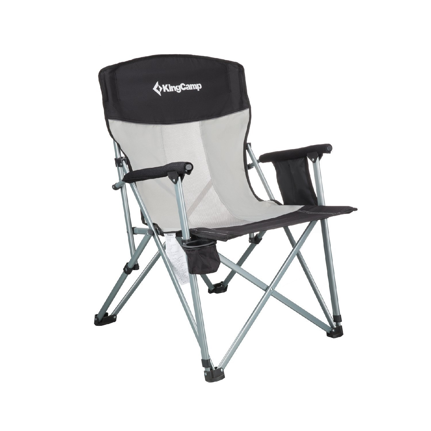 HEAVY DUTY CAMPING CHAIR LUXURY PADDED FOLDING HIGH BACK DIRECTORS W//CUP HOLDER