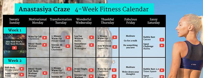 New Workout Calendar