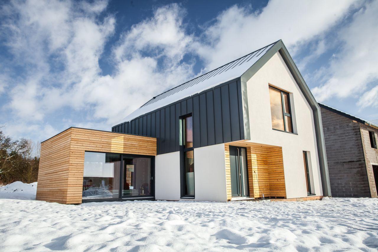 Maison En Bois Moselle maison ossature bois - auert architecture, france   passive