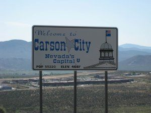 Welcome To Carson City Sign As You Enter Carson City Nevada Www