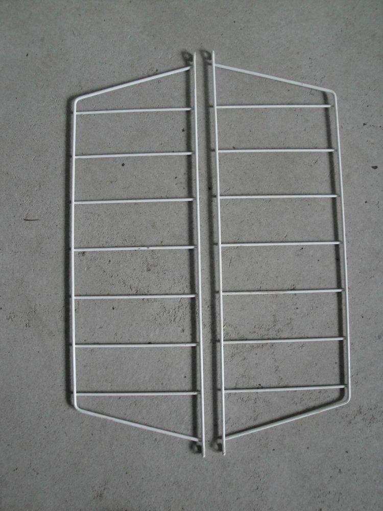 2 leiter halterungen string stringregal streben h ngeregal b cherregal regal ddr h 69 t 21 5. Black Bedroom Furniture Sets. Home Design Ideas