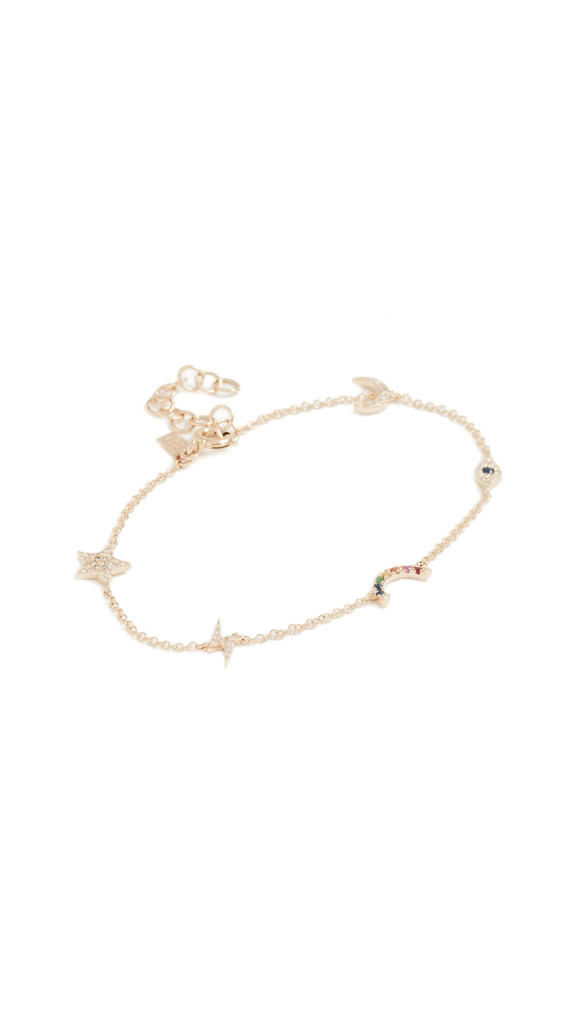 EF Collection 14k Gold Rainbow Bracelet WFAmraxSFG