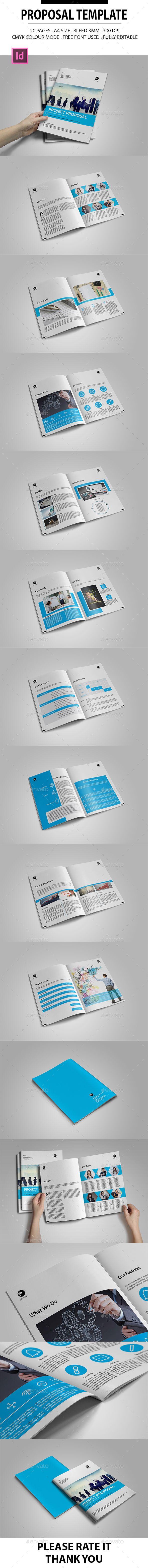Proposal Template InDesign INDD design Download httpgraphicrivernet