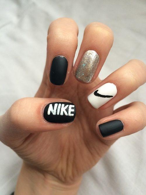 Nails Tumblr Uñas Nike Uñas De Gel Y Manicura De Uñas