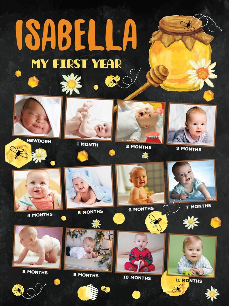 12 Month Photo Collage : month, photo, collage, First, Months, Collage, Birthday, Photo, Poster, Photos,